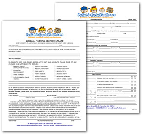 Pediatric Dental Healthcare Patient Forms
